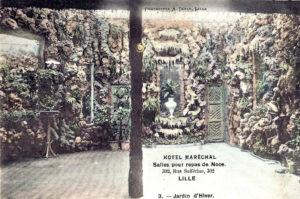 Wintertuin Hotel Maréchal, ansicht ca. 1900 (Frankrijk, Lille) [Coll. Anton Nuijten]
