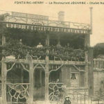 Restaurant Jouanne, ansicht ca 1910 (Frankrijk, Fontaine-Henry)