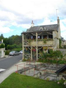 Restaurant Jouanne nu woonhuis, foto 2015 (Frankrijk, Fontaine-Henry)