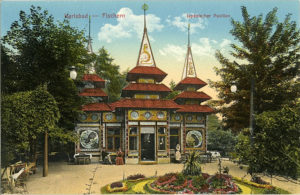 Ansicht Japanischer Pavillon 1913 (Tsjechië, Karlsbad) [coll. A. Nuijten]