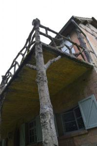 Cementrustiek balkon, Jachthuis Echelkuil (Belgie, Oud-Turnhout) [Foto H. Wilming]