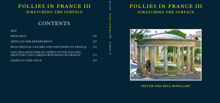 Cover Follies Journal 15: Follies in France III, sctratching the surface