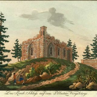 Künstliche Ruine, Hilscher ca. 1800 (Duitsland, Pillnitz) [wikemedia commons]