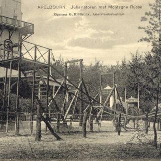 Montagne Russe en kabelbaan (Gelderland, Apeldoorn, Julianatoren) [Coll. Anton Nuijten]