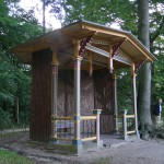 Rustiek prieel, park Kasteel Hoekelum (Gelderland, Ede) [Foto: Hetty Wilming]