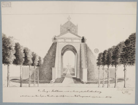 Berg te Kollum, achter de Buitenplaats Oostenburg - W. Eekhoff, 1850 (Friesland, Kollum)