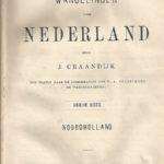 J. Craandijk, Titelblad 'Wandelingen door Nederland, Noord-Holland' [Coll. A. Nuijten]
