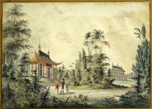 Villa Canton en Peking, 1780-1820, reproductie (Utrecht, Baarn) [Coll. Het Utrechts Archief]
