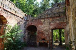 Binnenzijde Kunstliche ruine (Duitsland, Pillnitz) [Foto H. Wilming]
