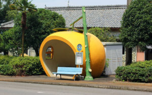 Fruit Shaped Bus Stops, de mango (Japan, Konagai)