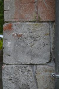 Handtekening Josephus Franciscus Misonne (Belgie, Jachthuis Echelkuil, Oud-Turnhout) [Foto H. Wilming]