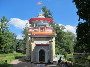 Chinees paviljoen, Tsarskoje Selo (Rusland, Poesjkin) [Foto: Hans Kateman]