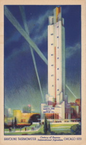 Havoline Thermometer 1933, Chicago (USA, Illinois) [Coll. Anton Nuijten]