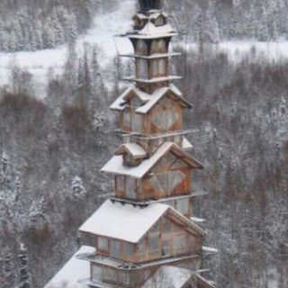 Toren Dr. Seuss (USA, Alaska, Talkeetna)